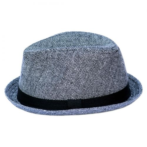 73da01d1bcfba0 Gray Herringbone Fedora with Black Band -- Born To Love Clothing - Baby  Hats, Children Hats Newborn Hats, funky Hats , Boy hats, Cool baby clothes  - fashion ...