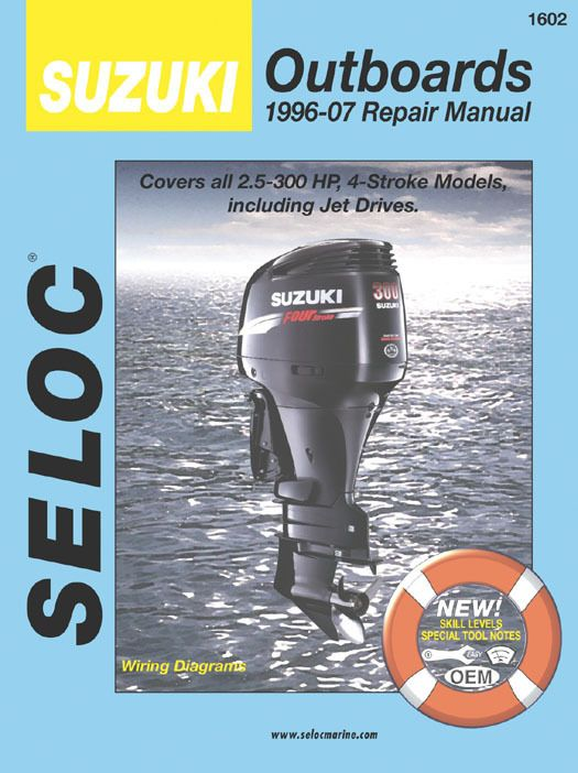 Suzuki Outboard 1996 2007 4 Stroke Service Repair Manuals Repair Manuals Repair Engine Repair