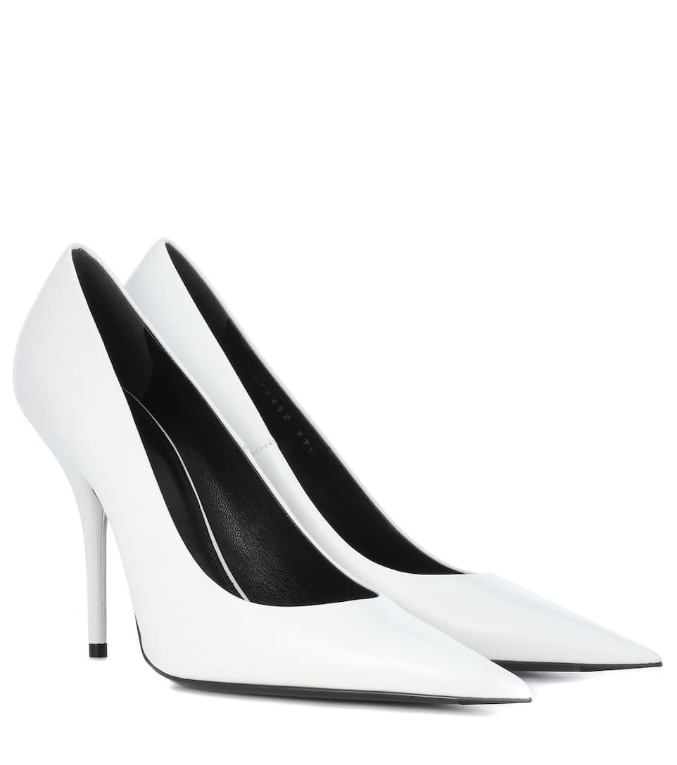 Leather pumps, White leather pumps