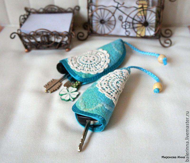 Купить Подарочный Комплект - ключницы войлочные - Миронова Инна, футляр, с фермуаром, войлочный чехол