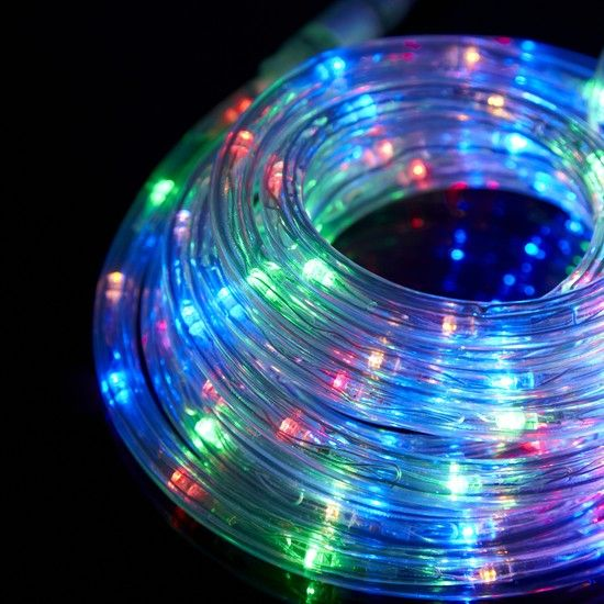 4m Multi Coloured Led Connectable Rope Light Low Voltage Led