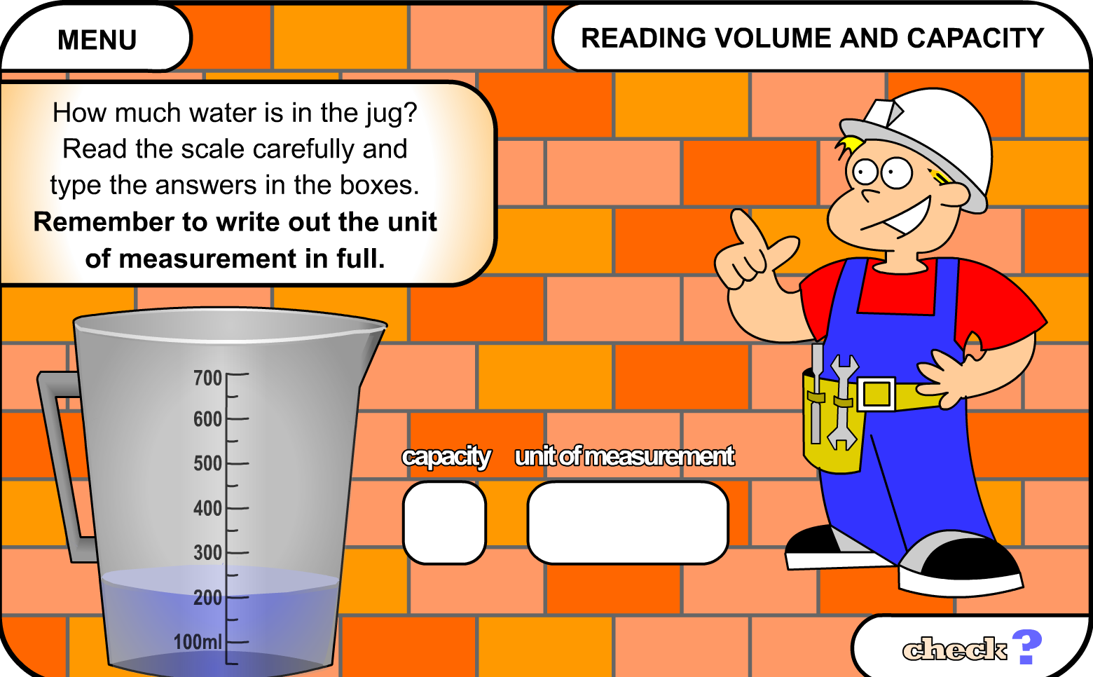 Reading Volume And Capacity