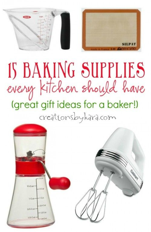 Amazing 15 Baking Supplies Every Kitchen Should Have. They Make Great Gifts For The  Baker In
