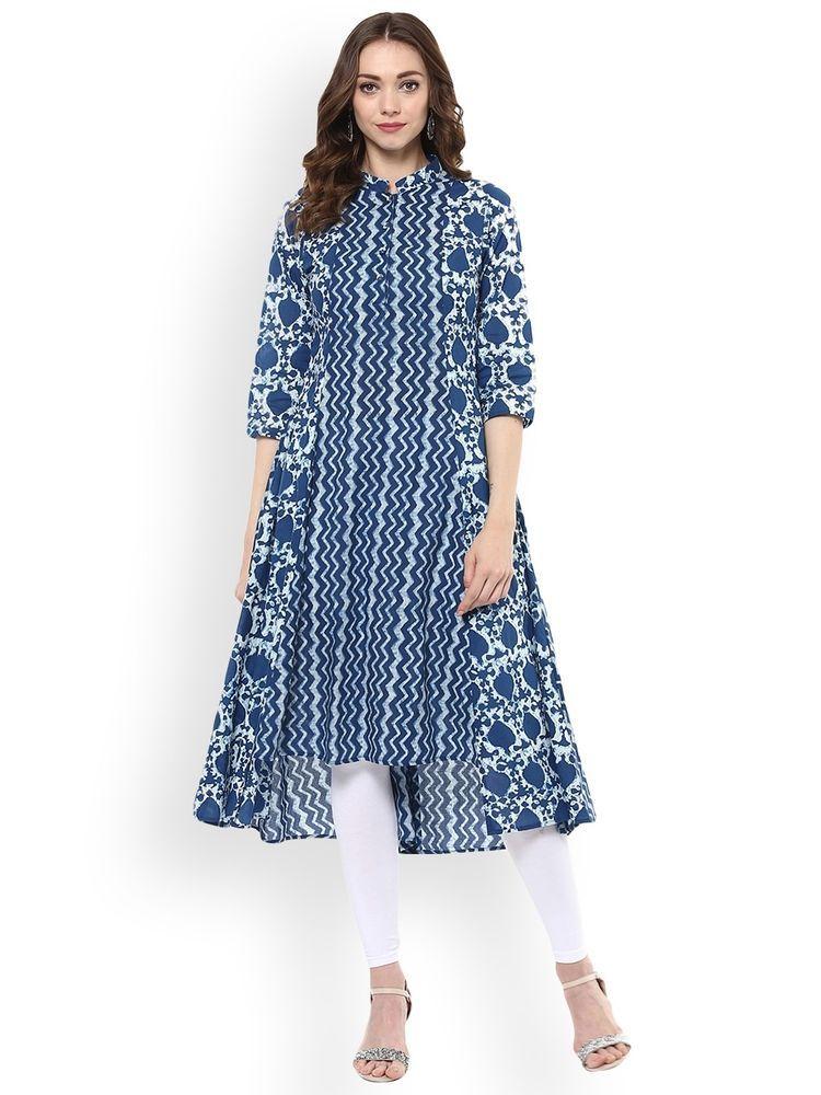 Sufia Fashions® Women Indian Kurti Kurta Cotton Designer Digital Print Tunic Top