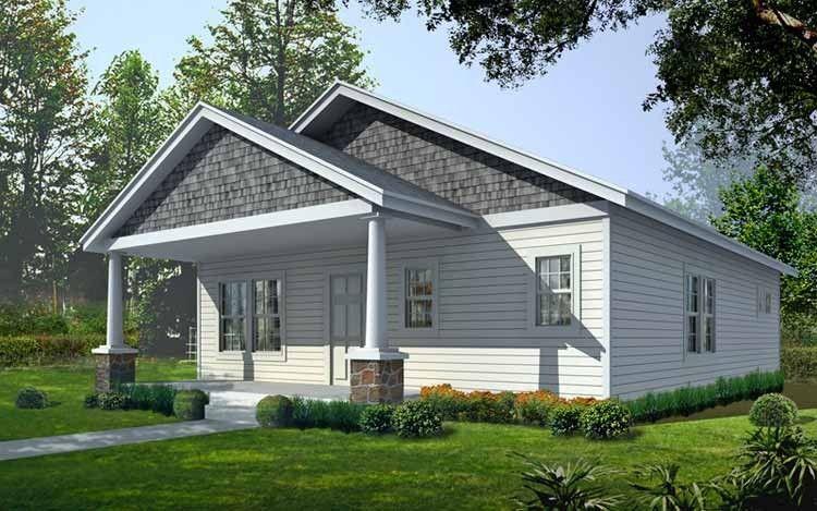 Craftsman Style House Plan 2 Beds 2 Baths 1200 Sq Ft Plan 1037 6