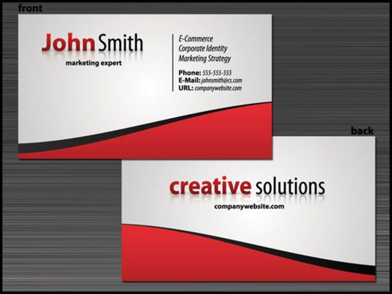 Slick Business Card Design With Stunning Typography Wwwpinterest - Create a business card template