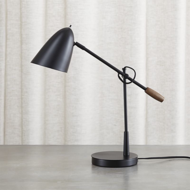 Shop Morgan Black Metal Desk Lamp With Usb Port Morgan 39 S Task Style Lighting In Sleek Black Finished Steel Di Metal Desk Lamps Black Metal Desk Desk Lamp