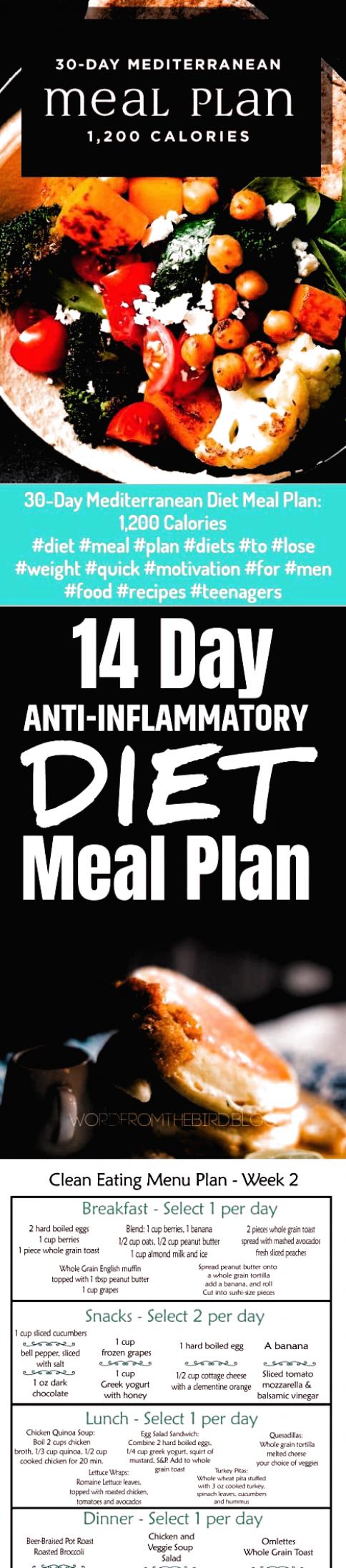 Diet 30 Day Mediterranean Diet Meal Plan 1200 Calories Diet Meal Plan Diets T In 2020 Anti Inflammatory Diet Meal Plan Easy Diet Plan Mediterranean Diet Recipes