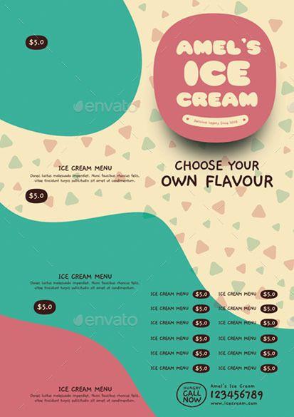 Ice Cream | Desain menu, Desain