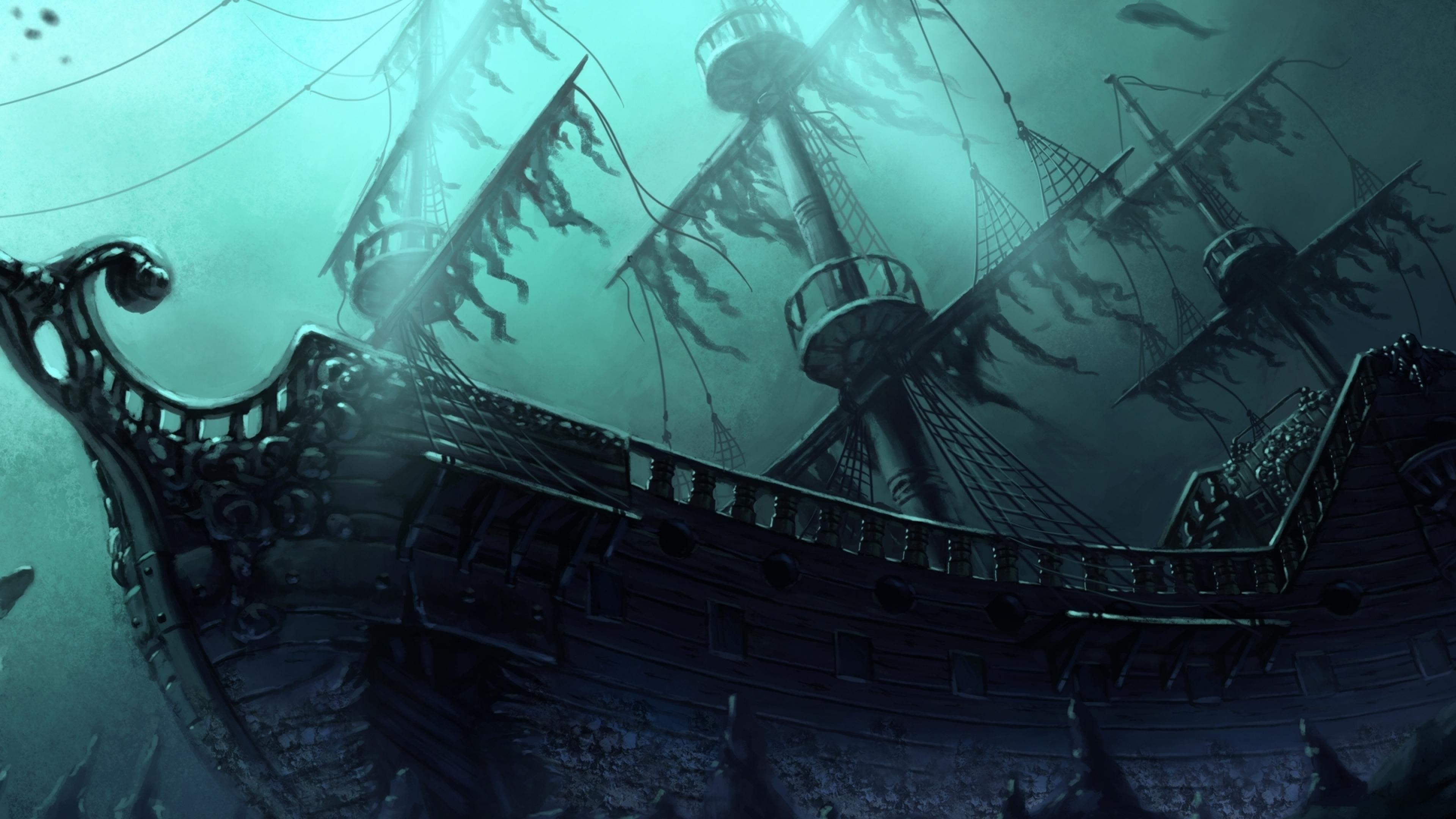 Sunken Ghost Pirate Ship Wallpaper by HD Wallpapers Daily | Pirate ship  drawing, Pirate ship, Sunken ship tattoo