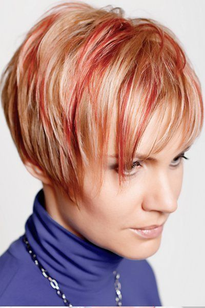 bob mit farbigen strähnen   hair & make up   pinterest   strähnen