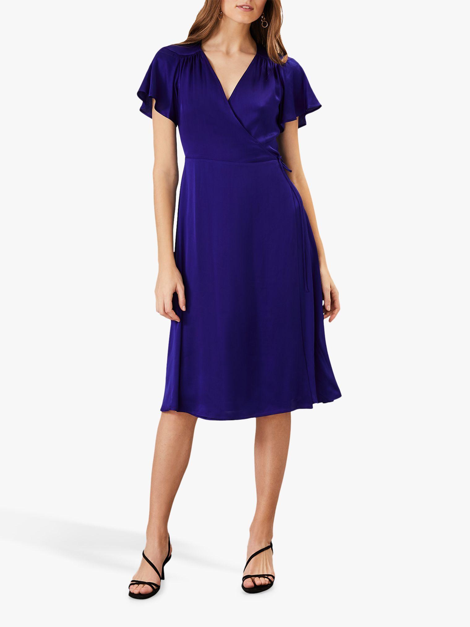 Phase Eight Sasha Satin Dress, Cobalt #cobaltdress
