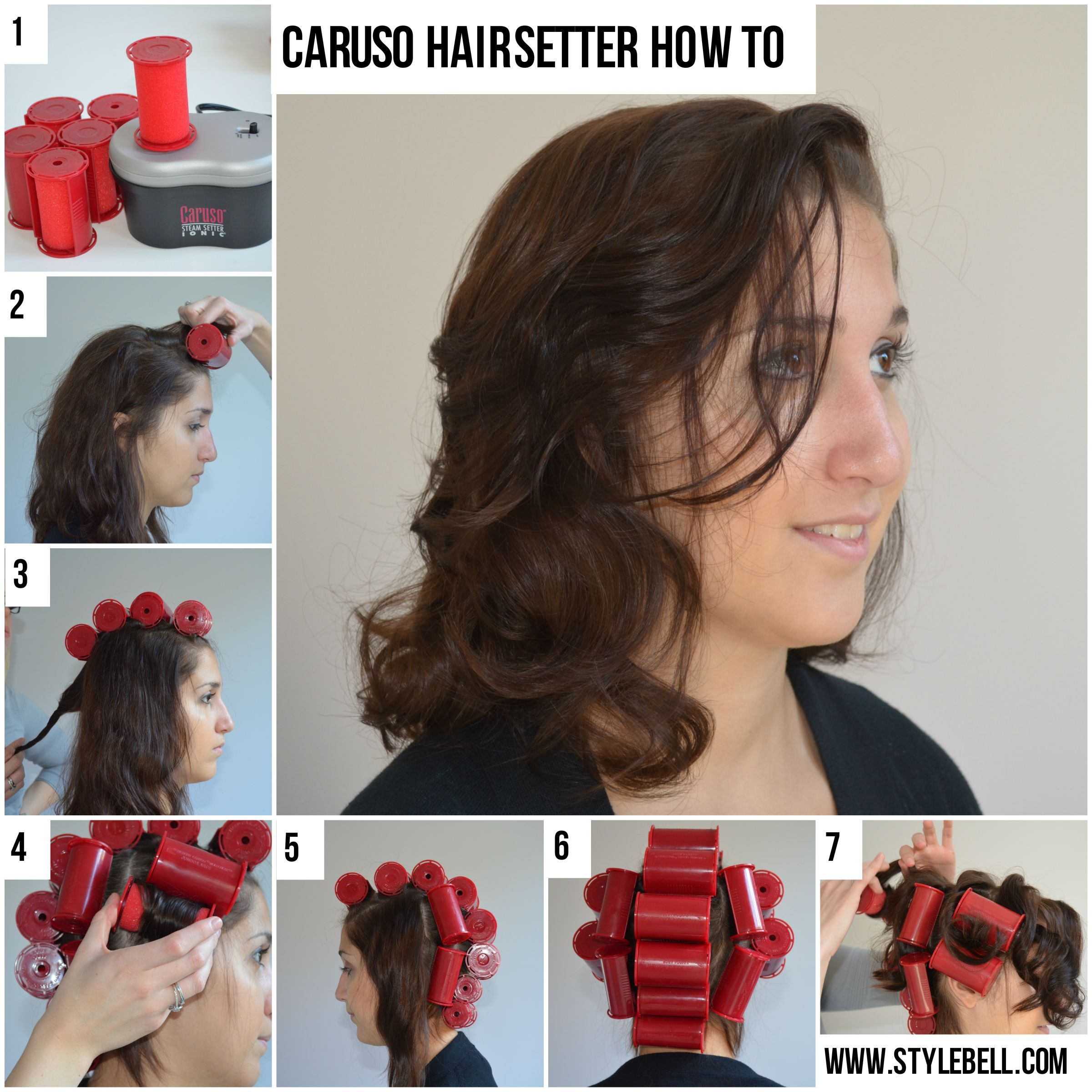 Caruso Pro Molecular Ion Steam Hairsetter 30 Rollers 5 Sizes C97958
