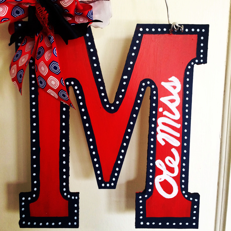 18x24 Victory Tailgate Mississippi Ole Miss Rebels Canvas Wall Art Vintage Flag Design