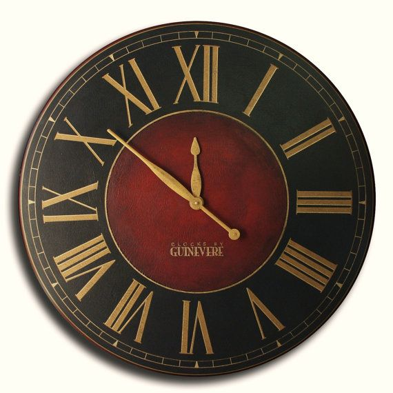 Large Wall Clock 36in Antique Style Big, Big Round Clock