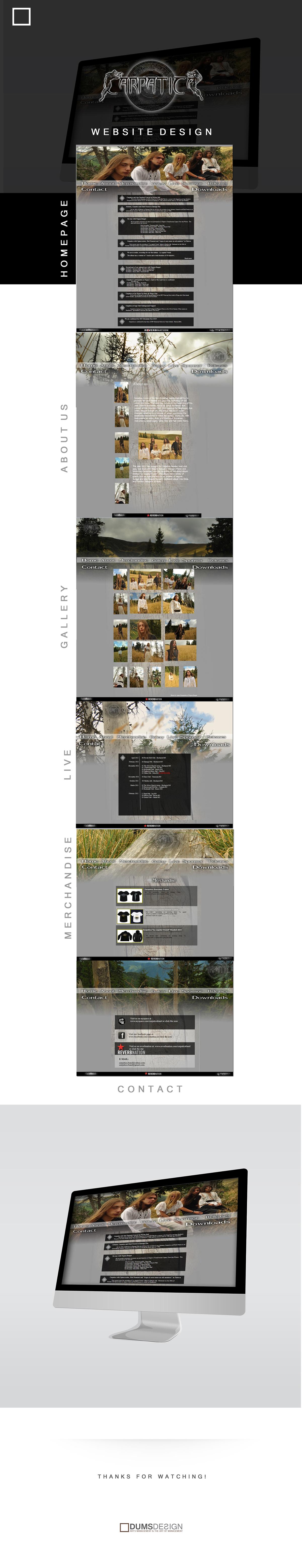 Carpatica Band - Website on Behance