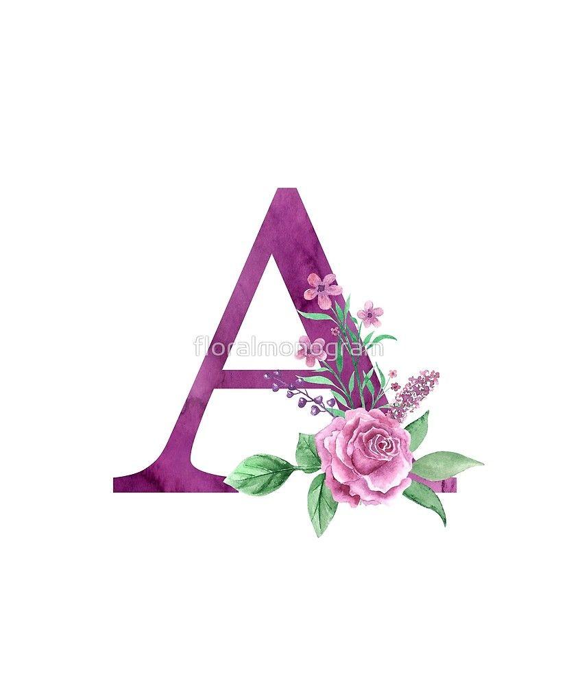 Monogram A Lovely Rose Bouquet By Floralmonogram Floral
