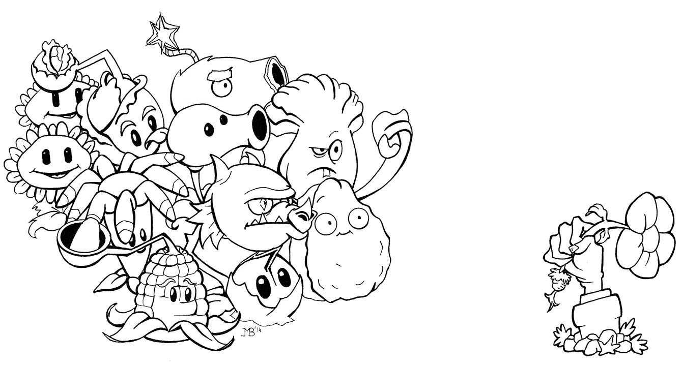 Dibujos De Zombies Para Imprimir Y Colorear: Resultado De Imagen Para Dibujos De Plantas Vs Zombies