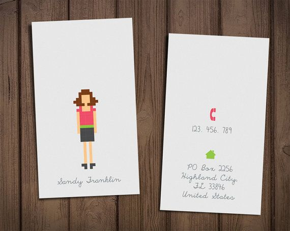 Calling card template by sthnew on Etsy, $25.00