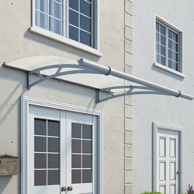 Vega 2000 7 Ft W X 7 Ft D Metal Standard Patio Awning Door Awnings Window Awnings Polycarbonate Roof Panels