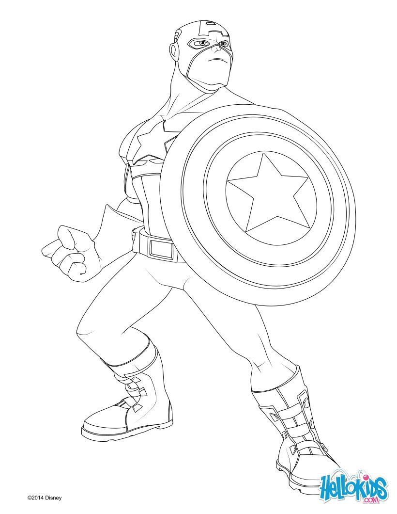 Captain America coloring page (Dom to color for Mar\'s gift) | gifts ...