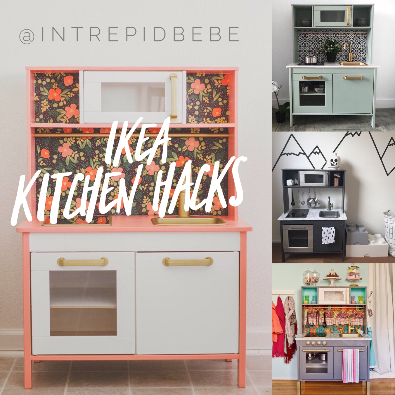 DUKTIG IKEA Kitchen, Hack Makeover Upcycle Refurb Renovation Children Kids  Toddler Play Toys Craft Diy Fun Purple Copper Rose Gold Marble Grey Coral  Organge ...