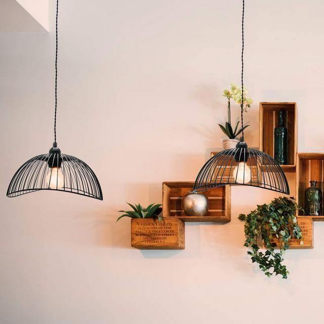 Lampadario a sospensione lampada a soffitto nera in stile