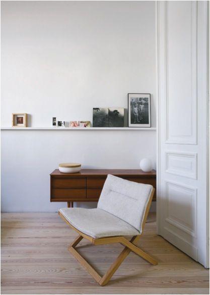 living room - white mid century modern home