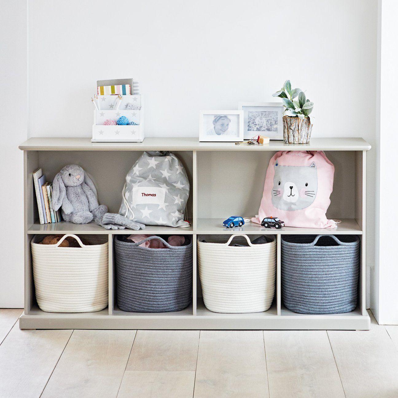 Abbeville Long Shelf Unit Stone Storage Baskets Bedroom Cube Storage Cube Storage Shelves