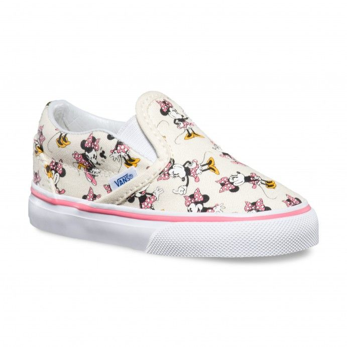Vans Toddler Disney Classic Slip-On Shoes (Disney) Minnie Mouse Classic  White 94f44fd73