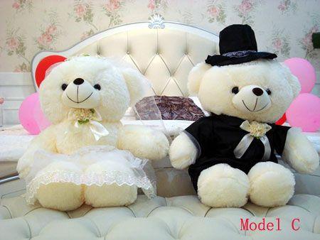 High Quality Cute Teddy Bears For Kids Or Wedding Car Decorations