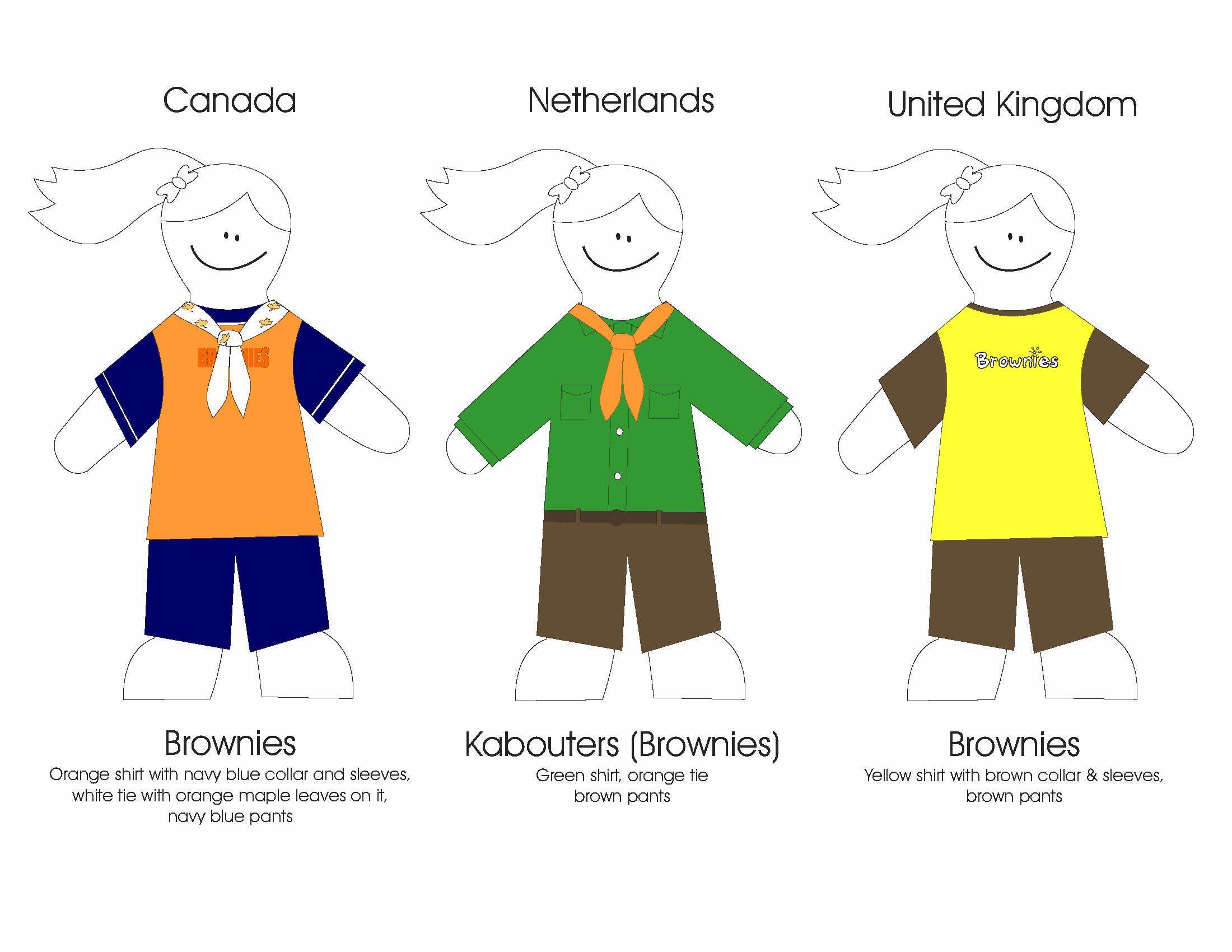 Brownies Around The World Uniforms