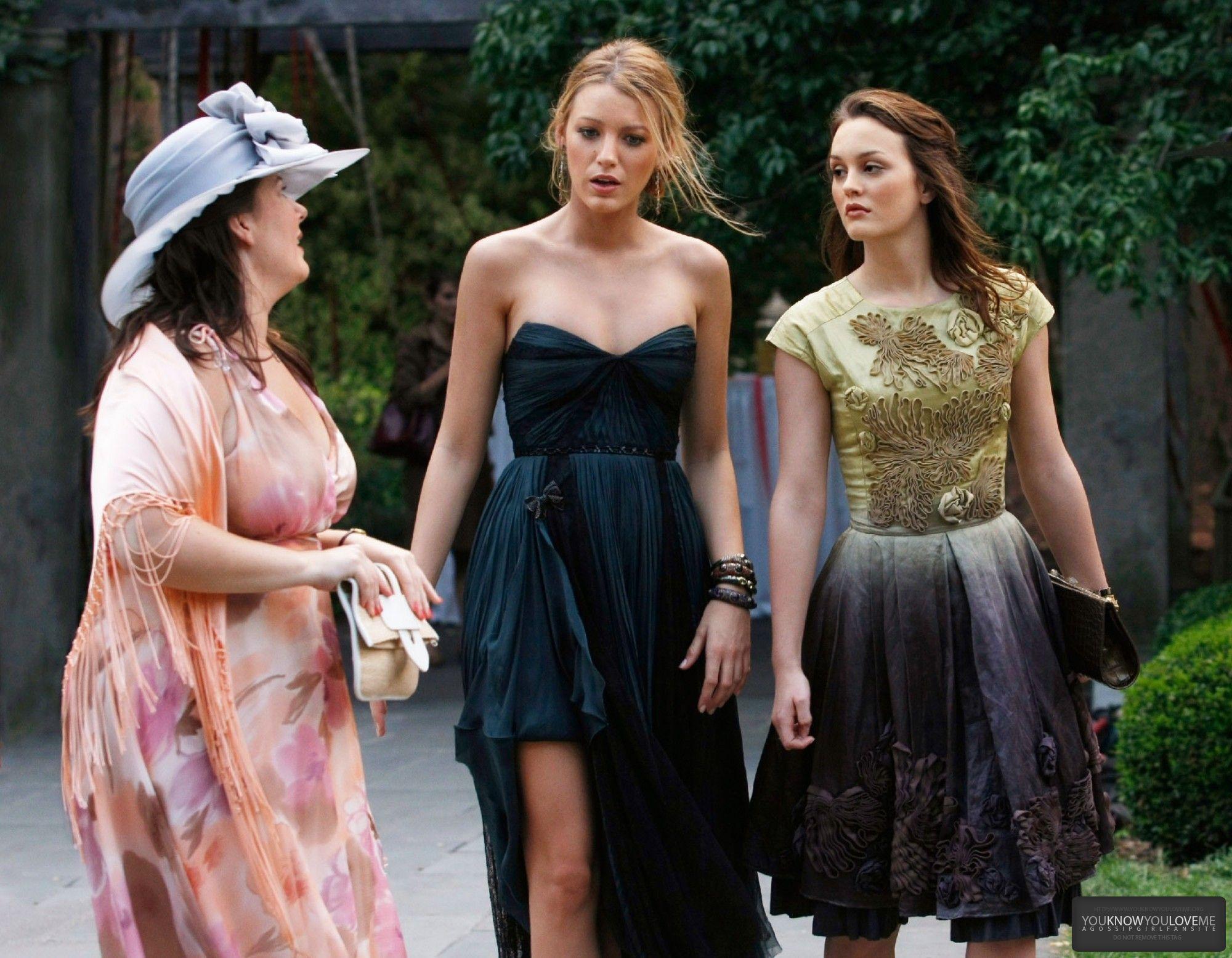 Dorota, Serena van der Woodsen wearing J Mendel, and Blair Waldorf ...