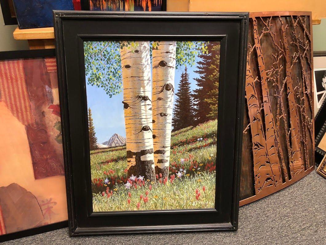 Aspens In Spring By Brian Keller $1495 Bonrics Custom Framing and ...