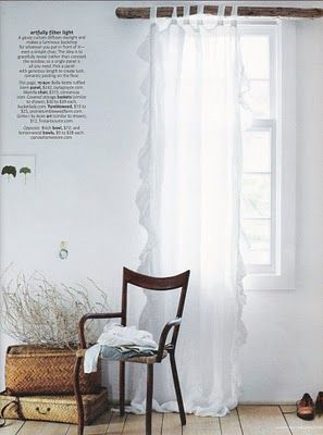 These Flowy Curtains Attach Ruffles To The End Of A Scarf And Loop For Dining Room Rustic Bedroom Decor Bedroom Decor Inspiration Rustic Curtains
