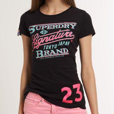 スーパードライ極度乾燥 Signature T-shirt Tシャツ アバクロ ホリスターより個性派! #ITSHOPアバクロcom  イギリスで産まれた日本未入荷ブランドSuperdry極度乾燥。