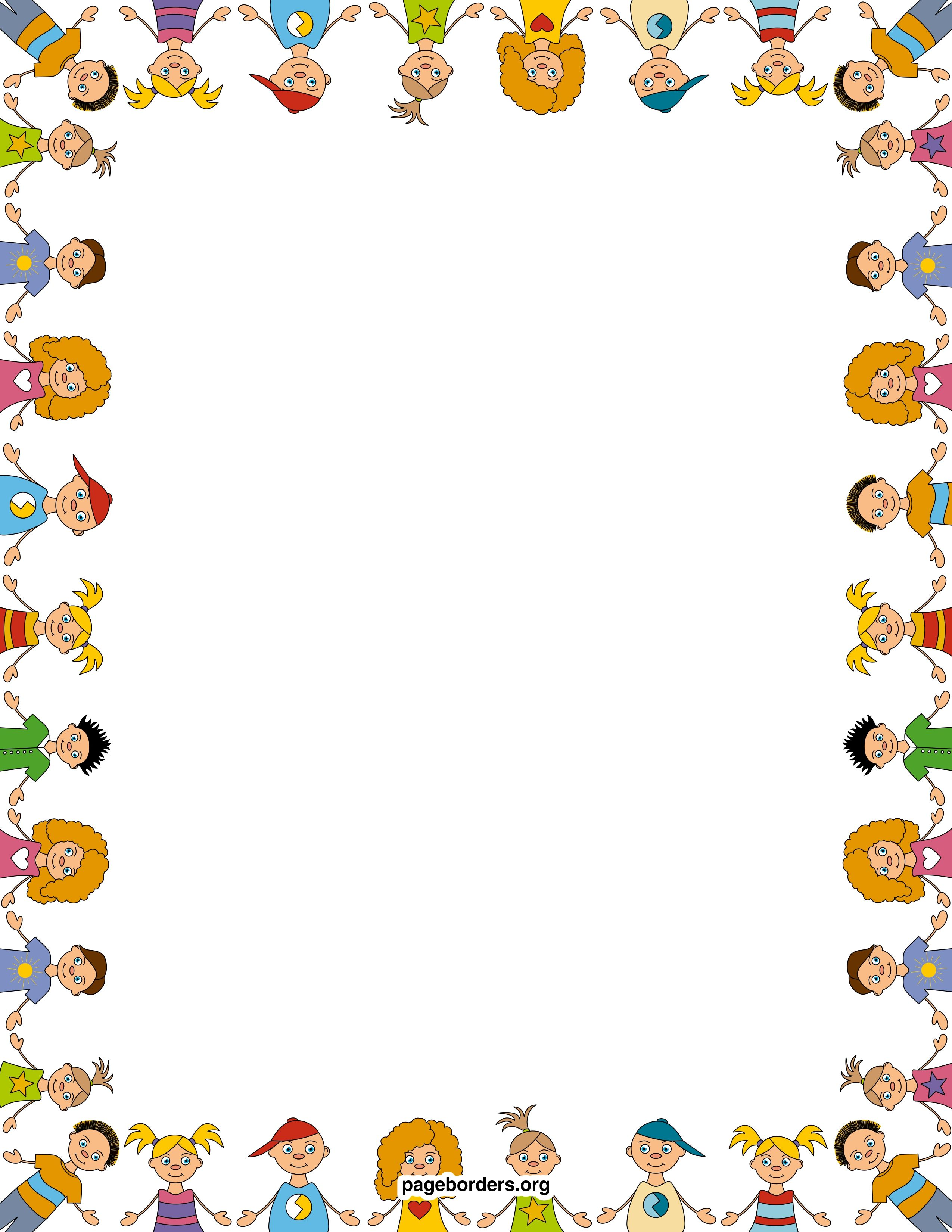 children-border-watermarked.jpg (2550×3300)   BORDES, CARTELLS ...