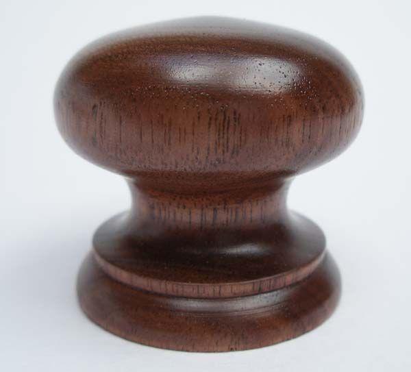 Hand Turned Door Knobs from Nicholas Martin Cabinets - Walnut ...