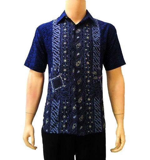 kemeja batik modern biru  Modern Batik Sekar  Pinterest