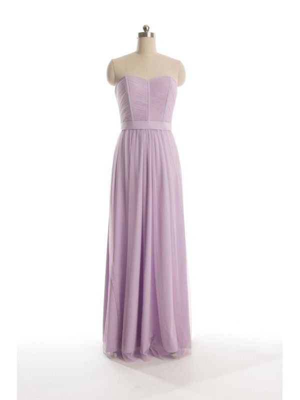 cf5d5c1360 Key Trends for Wedding Dresses and Bridesmaid Dresses in 2015. Long  Strapless Pastel Light Purple Tulle ...