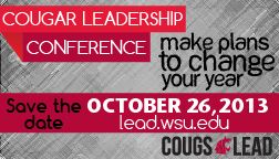Cougar Leadership Conference by Cougs Lead. Designed by Hanna Walther.