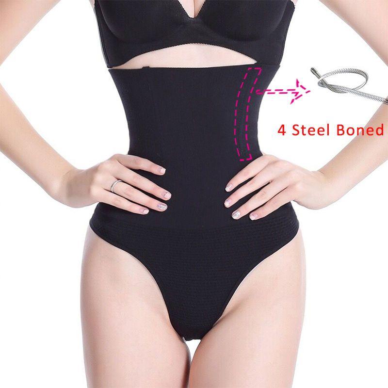 3025e50857 Womens High Waist Panty Body Shaper Bridf Tummy Control Underwear Cincher  Thong
