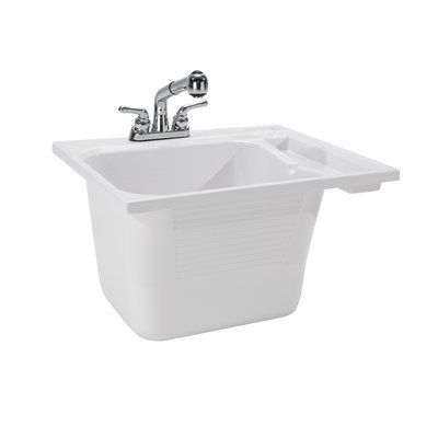 Cashel 25 X 22 Drop In Laundry Sink With Faucet Utility Sink