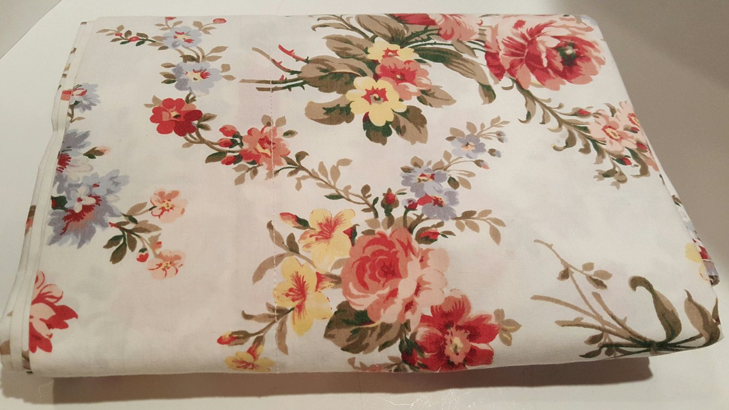 Bedding jardin collection bedding collections bed amp bath macy s - Flat Sheet Full Ralph Lauren Petticoat French Country Floral Shabby Cottage Ralph Lauren Bedding Excellent