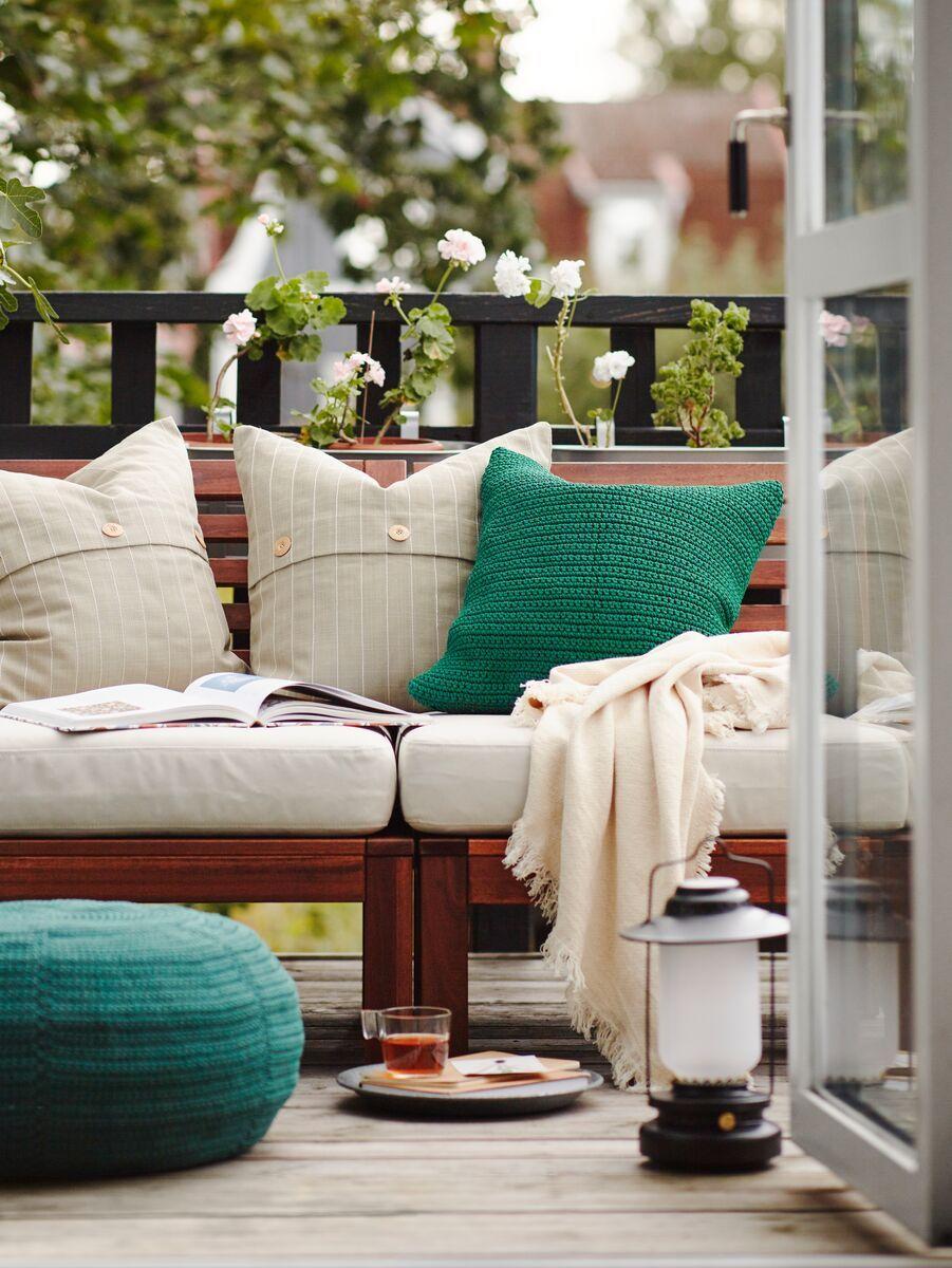 Applaro 2 Seat Modular Sofa Outdoor Brown Stained Froson Duvholmen Beige Ikea Switzerland Modular Sofa Cushions On Sofa Decorative Cushions [ 1200 x 901 Pixel ]