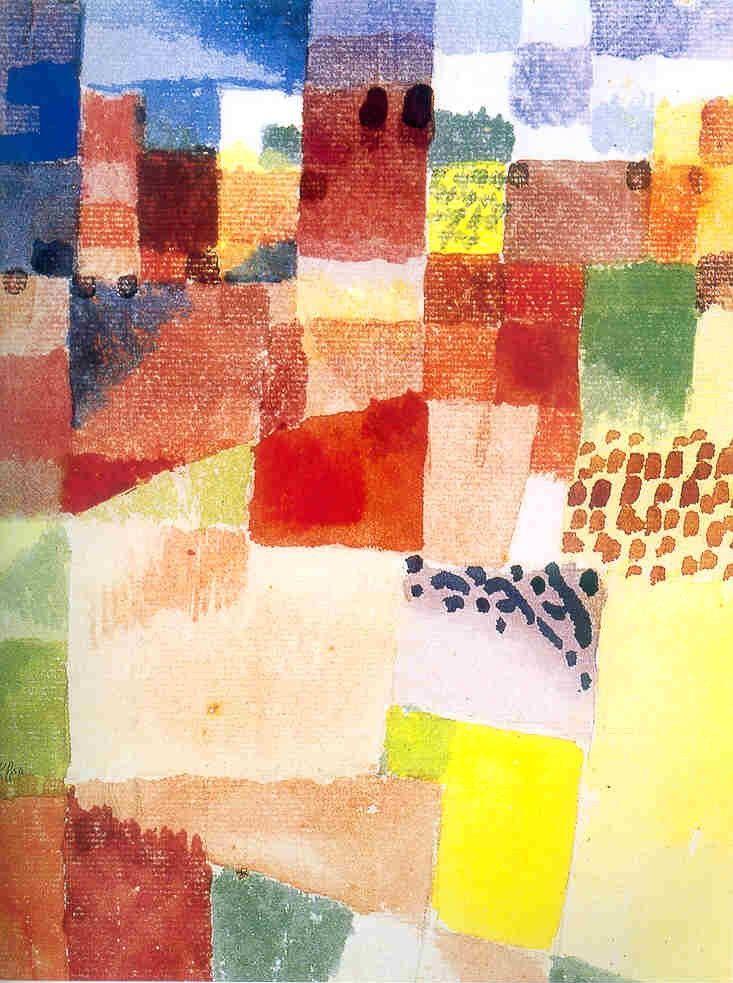 Paul Klee, la trasfigurazione poetica della realtà | Paul klee, Paesaggio astratto, Astratto