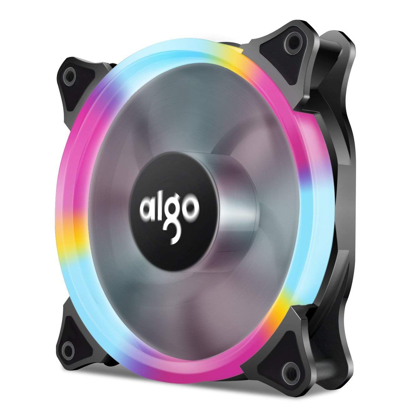 Aigo Halo Led Ring Fan 120mm Silent Sleeve Bearing Pc Cpu Cooling