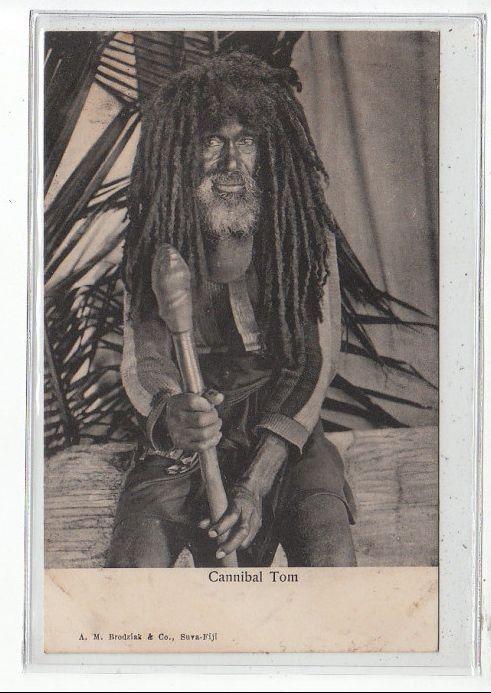 FIDJI - Cannibal Tom - très bon état   Cartes postales anciennes, Fidji et Postale