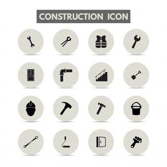 Iconos de construcción.