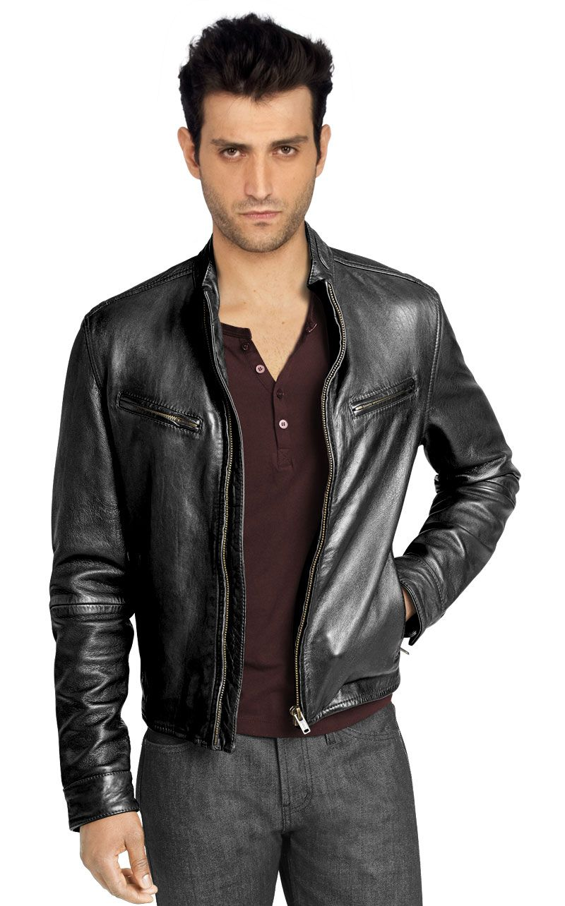 Rugged And Moto Inspired Mens Leather Jacket Leather